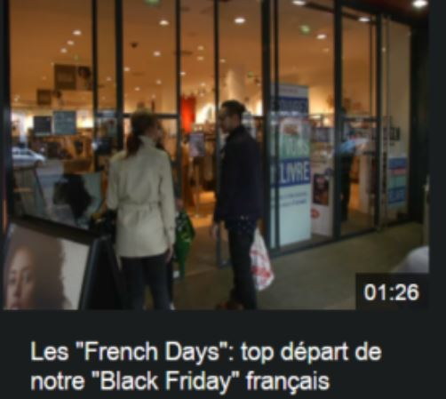 les gens qui fontdu shopping pour le french days